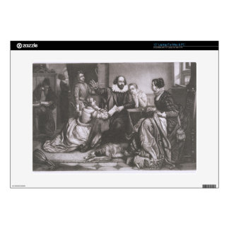 """Shakespeare with his Family, at Stratford, Recitin 15"""" Laptop Decal"""