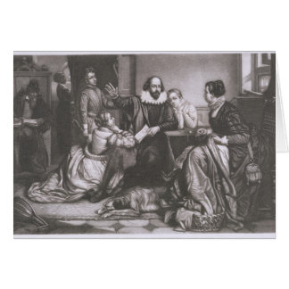 Shakespeare with his Family, at Stratford, Recitin Card