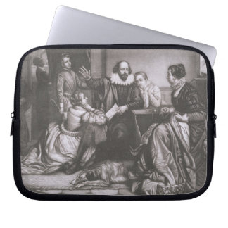 Shakespeare with his Family, at Stratford, Recitin Laptop Sleeve