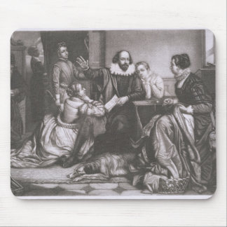 Shakespeare with his Family, at Stratford, Recitin Mouse Pad