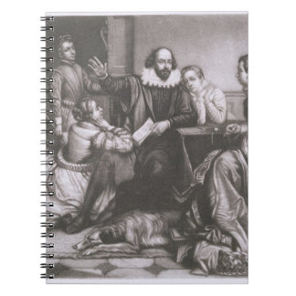 Shakespeare with his Family, at Stratford, Recitin Notebook