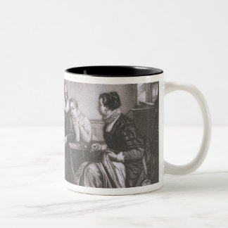 Shakespeare with his Family, at Stratford, Recitin Two-Tone Coffee Mug
