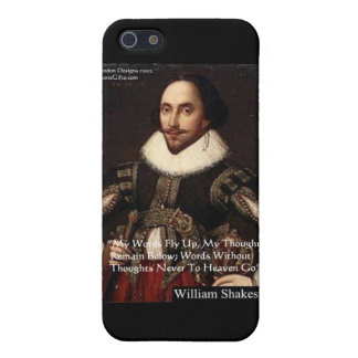"""Shakespeare """"Words In Heaven"""" Wisdom Quote Gifts iPhone SE/5/5s Case"""