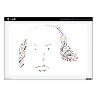 Shakespeare Words Laptop Skin