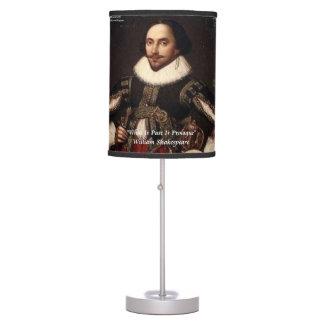 Shakespeare y lámpara de mesa de la cita del