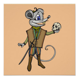 Shakespearean Mouse Poster