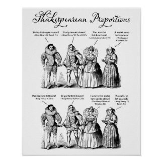 Shakespearean Proportions Poster