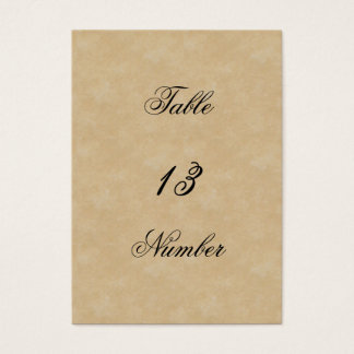Shakespearean Rose Wedding Table Number Business Card