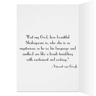 Shakespeare's Birthday Greeting Card