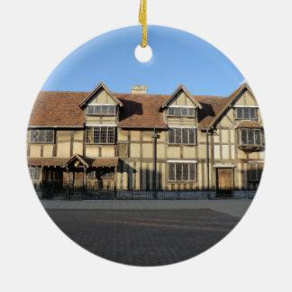 Shakespeare's Birthplace in Stratford Upon Avon Ceramic Ornament