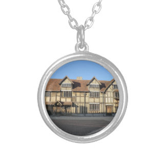 Shakespeare's Birthplace in Stratford Upon Avon Silver Plated Necklace