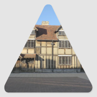 Shakespeare's Birthplace in Stratford Upon Avon Triangle Sticker