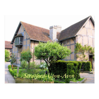 Shakespeare's birthplace Stratford UK postcard
