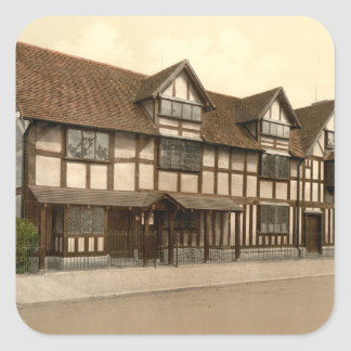Shakespeare's Birthplace, Stratford-upon-Avon Square Sticker