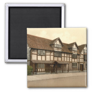 Shakespeare's Birthplace, Stratford-upon-Avon, UK 2 Inch Square Magnet