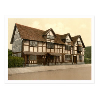 Shakespeare's Birthplace, Stratford-upon-Avon, UK Postcard