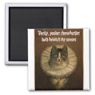Shakespeare's Cat 2 Inch Square Magnet