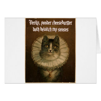 Shakespeare's Cat Card
