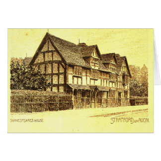 Shakespeare's House Stratford on Avon Card