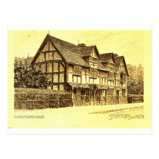 Shakespeare's House Stratford on Avon Postcard