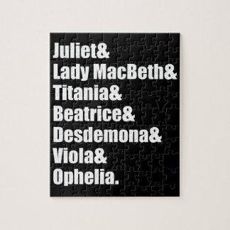 Shakespeare's Ladies Puzzle