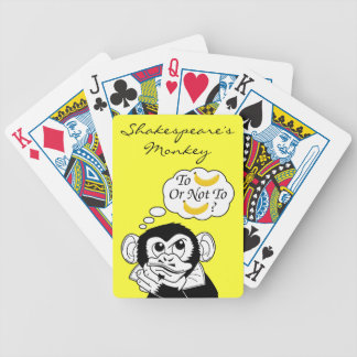 Shakespeare's Monkey Bicycle Playing Cards