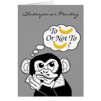 Shakespeare's Monkey Greeting Card