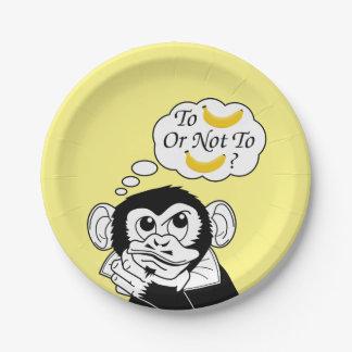 Shakespeare's Monkey Paper Plate