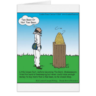 Shakespeare's The BeeKeeper Funny Gifts & Tees Card