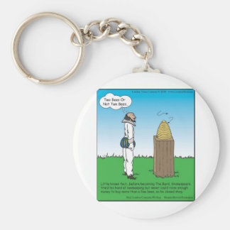 Shakespeare's The BeeKeeper Funny Gifts & Tees Keychain