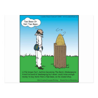 Shakespeare's The BeeKeeper Funny Gifts & Tees Postcard