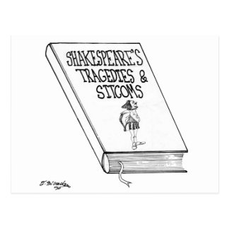 Shakespeare's Tragedies and Sitcoms Postcard