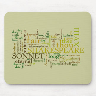 SHAKESPEARE'S XVIII SONNET MOUSE PAD