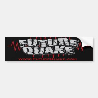 """Shakey"" Future Quake Bumper Sticker with Website Car Bumper Sticker"