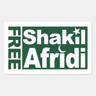 Shakil LIBRE Afridi Pegatina Rectangular