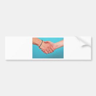 Shaking hands 1 bumper sticker