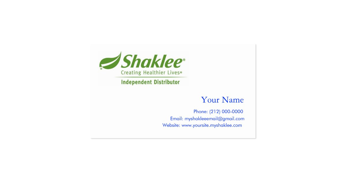 Shaklee independent distributer business card zazzle for Shaklee business cards