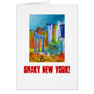 Shaky New York Card