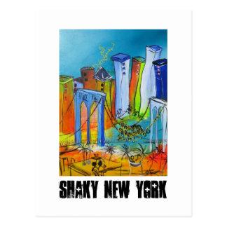Shaky New York Postcard