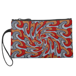 shaky red wristlet clutches