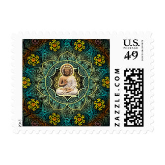 Shakyamuni Buddha Enlightenment, Peace, Happiness Stamp