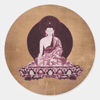 Shakyamuni Buddha Grunge Vintage Classic Round Sticker
