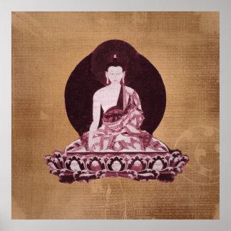Shakyamuni Buddha Grunge Vintage Print