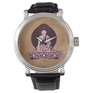 Shakyamuni Buddha Grunge Vintage Wristwatch