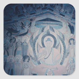 Shakyamuni Buddha preaching Square Stickers