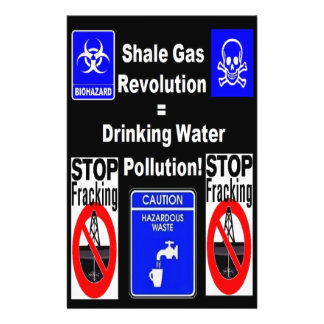 Shale Gas Revolution = Drinking Water Pollution! Full Colour Flyer