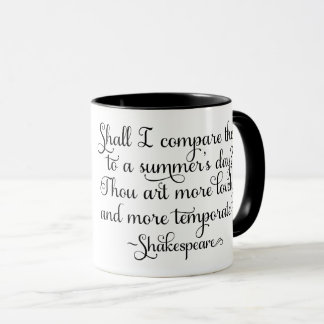 Shall I compare thee to summer's day - Shakespeare Mug