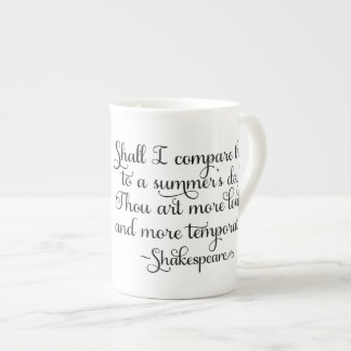Shall I compare thee to summer's day - Shakespeare Tea Cup