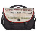 Shall NOT be Infringed Bags For Laptop