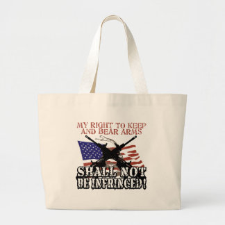 Shall Not Be Infringed Large Tote Bag